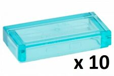 LEGO Trans Light Blue Tile 1x2 w Groove Friends Super Heroes Chima Doctor Who