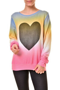 Xs 150 Multi Baggy Wsv61334t Sweatshirt Rrp Femme Perfect Wildfox Heart xUBq0Wv