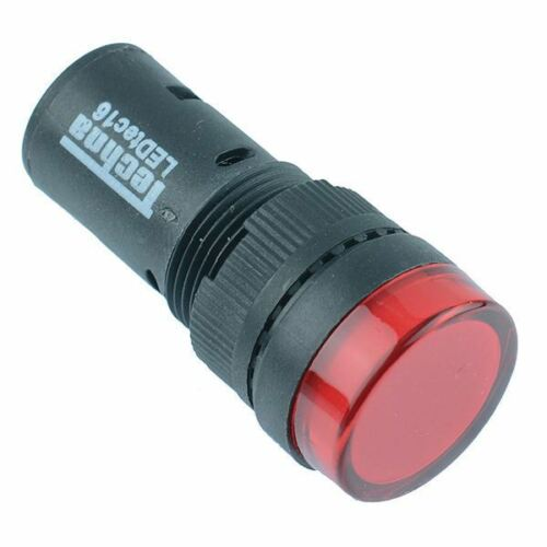 Red 16mm LED Pilot Indicator Light 230V