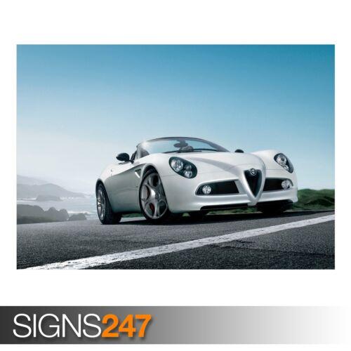 Poster Print Art A0 A1 A2 A3 AC600 CAR POSTER ALFA ROMEO 8C SPIDER CAR 2