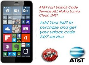 d70417078dd9c0 UNLOCK CODE FOR AT T ALL MICROSOFT NOKIA LUMIA 640 520 635 830 920 ...
