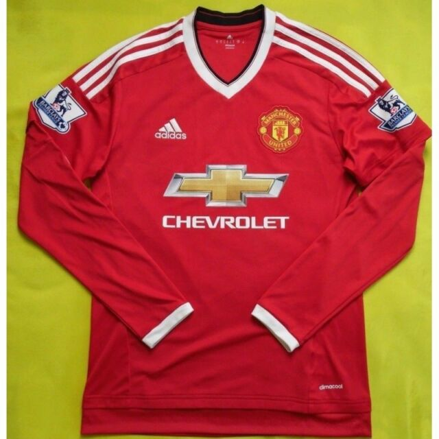 the best attitude a2a12 f7ae9 Long Sleeve Manchester United Jersey Shirt Adidas 2015/2016 Home Soccer 5+/5