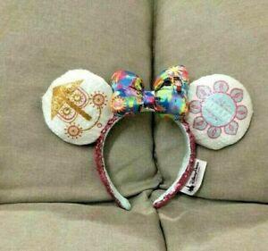 Disney-Parks-it-039-s-a-small-world-Clock-Minnie-Mouse-Sequin-Ears-Headband