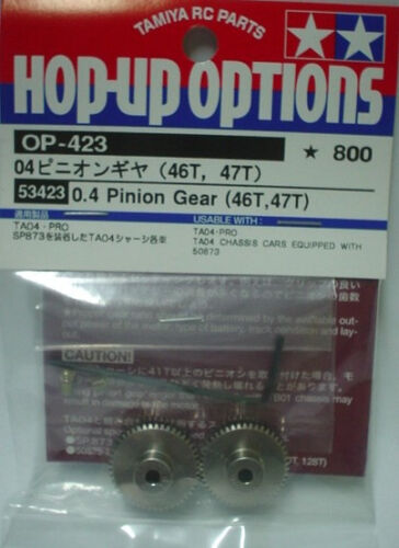 #53423 NEW 46T,47T Tamiya R//C RC Parts 4WD//FWD 0.4 Pinion Gear