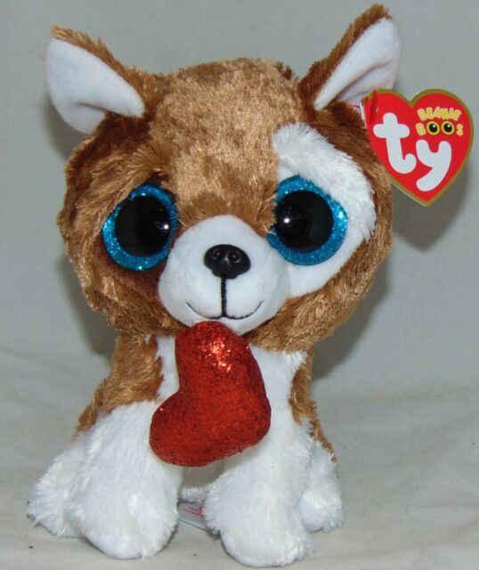 bc12d9b7a4c 2018 Ty Beanie Boos Smootches The Dog for Valentine s Day 2019 (6 Inch)