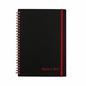 Black-n-039-Red-Twin-Wire-Poly-Cover-Notebook-8-1-4-x-5-7-8-Black-Red-70-Rule