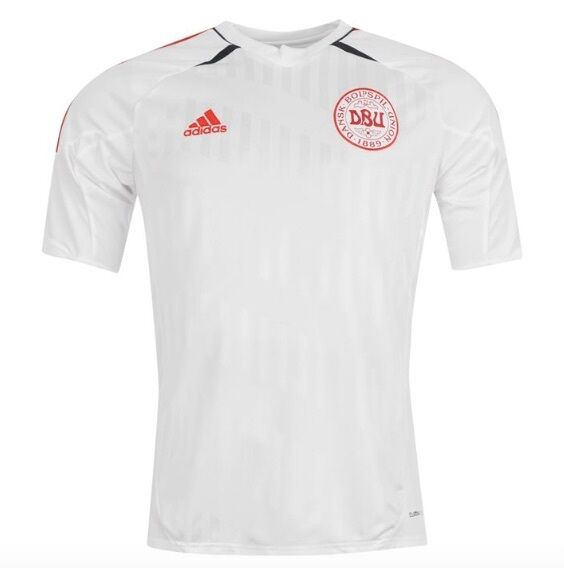 Adidas Dbu Denmark Denmark Football Jersey Red White all Sizes New with Label