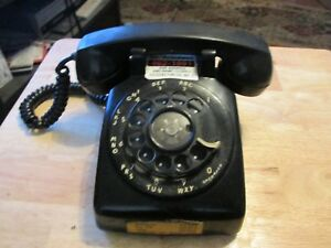 Vintage-Black-Bell-System-by-Western-Electric-Rotary-Dial-Desk-Telephone