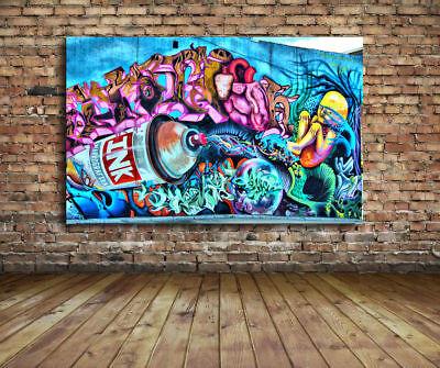 ART PRINT POSTER PHOTO GRAFFITI MURAL STREET ART TRIPPY CITY NOFL0356