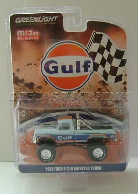 Greenlight MiJo Exclusive Gulf Racing Design`1974 Ford F250 Sky Blue 4,800 Made