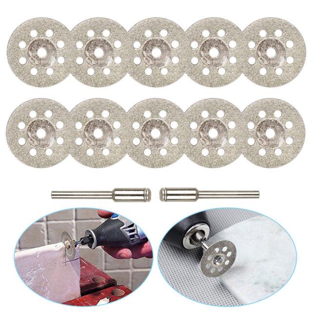 10PCS Set Diamond Cutting Wheel Saw Blades Cut Off Discs Set for Rotary Tool