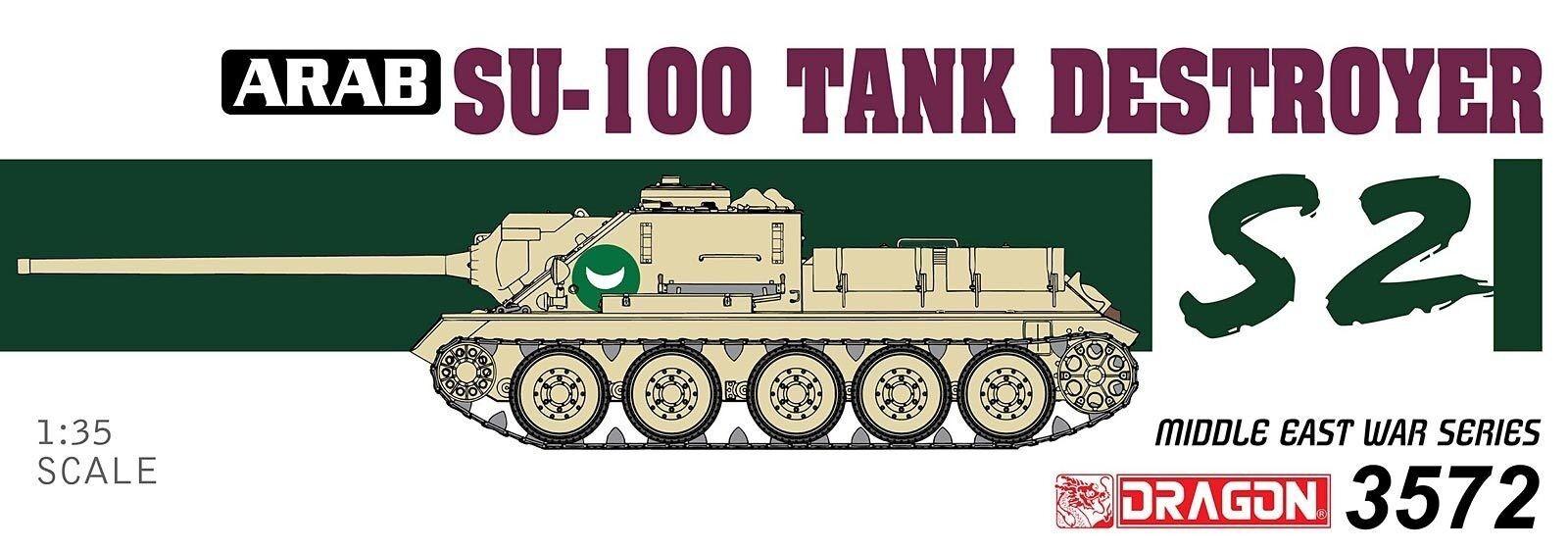 Dragon 1 3 5 3572  Egyptian SU-100 Tank Destroyer- The Six Day War
