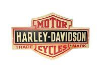 Harley-davidson Bar And Shield Metal Sign Free Shipping