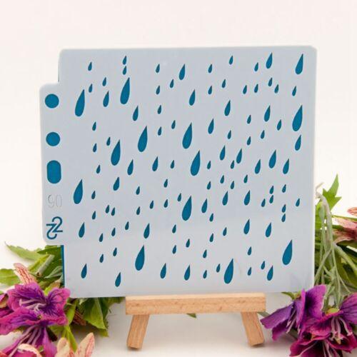 Regentropfen Schichtung Schablone Vorlage Zeichnung Spray Wandfarbe Handwerk ER