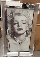 Marilyn Monroe On Mirrored Frame Wall Mirror100x60cm Home Decor