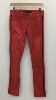 * Bnwt * Arrogant Cat Donna Rosso Cotone Zip Laterale Slim Skinny Jeans Taglia 27-mostra Il Titolo Originale