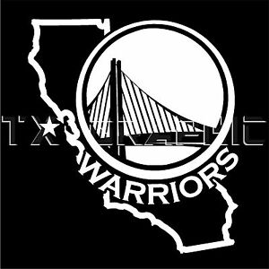 Decal For Golden State Warriors California Map Basketball