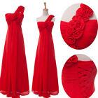 2014 Elegant One Shoulder Bridesmaid Wedding Prom Evening Homecoming Party Dress