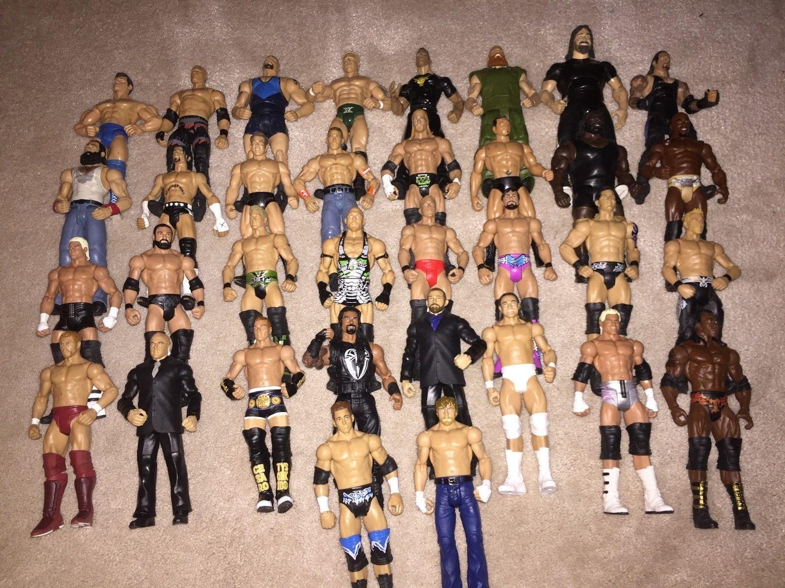 WWE Mattel Lot 2 of 32 Wrestling cifras, Elite, Flashback, Basic, WCW, ECW