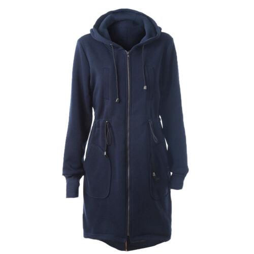 Women Winter Warm Pocket Hooded Overcoat Casual Parka Jacket Coat Zipper Outwear