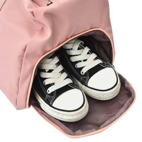 Women Gym Fitness Bag Large Capacity Waterproof Sport Travel Duffel Tote Bag