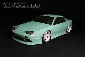 RC-Karosserie-Auto-Drift-Touring-1-10-Nissan-Silvia-s13-onevia-Style-aplastics-NEU