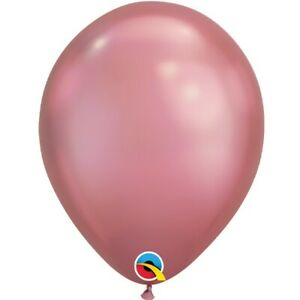 Chrome-Mauve-Qualatex-27-9cm-Ballons-en-Latex-X-5