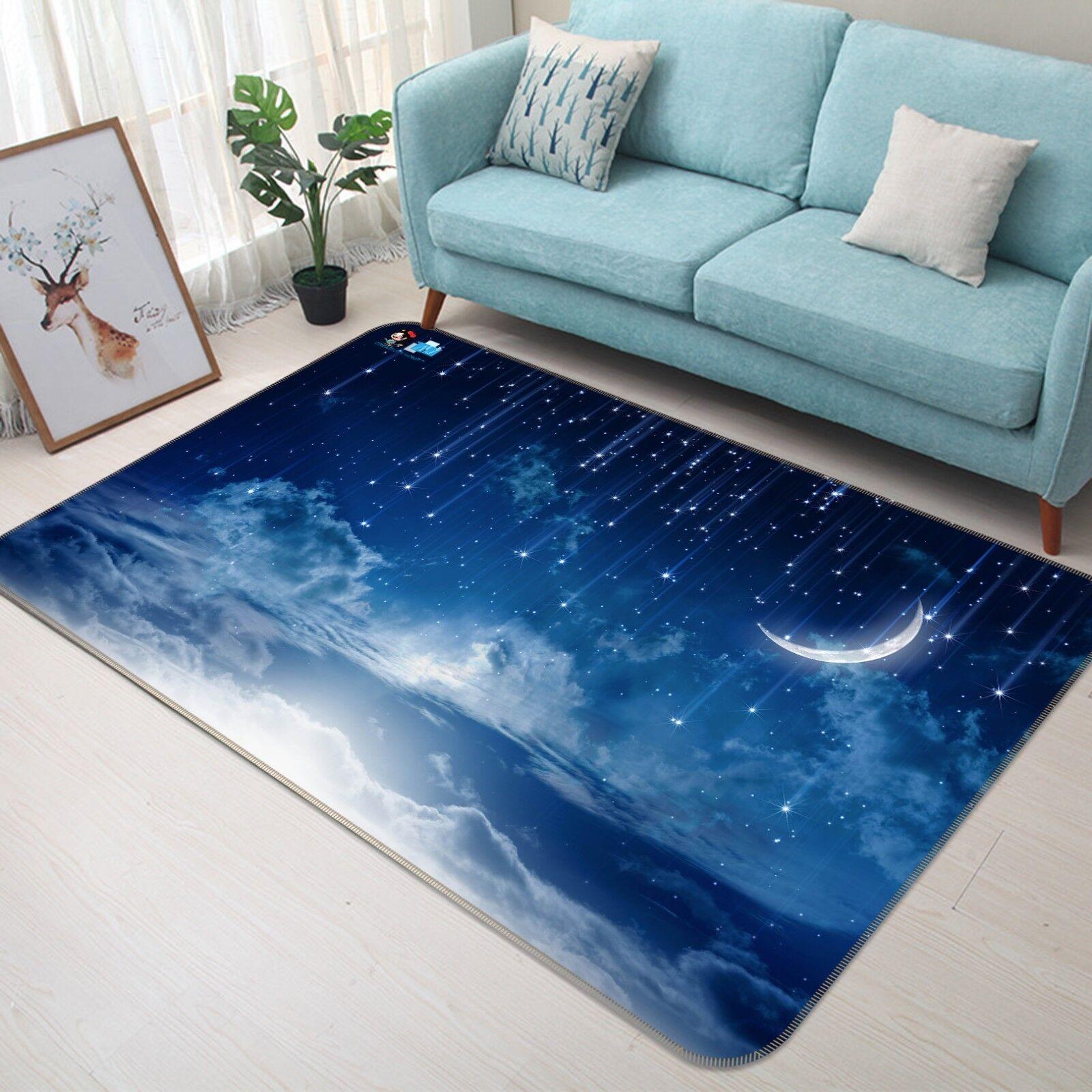 3D Moon Stars Sky 299 Non Slip Rug Mat Mat Mat Quality Elegant Photo Carpet US Cobb 3df498