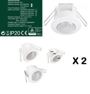 2X a incasso 360 gradi PIR Soffitto Rilevatore di Movimento Sensore Di Occupazione interruttore della luce  </span>