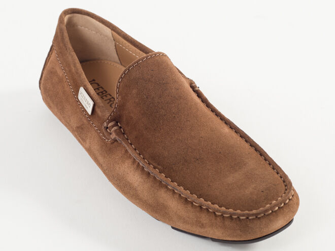 New Iceberg Light Brown Suede Moccasin Size 41 US 8