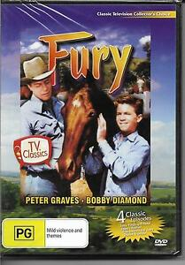 Fury-TV-Classics-4-Episodes-Peter-Graves-Bobby-Diamond-DVD-NEW-amp-Sealed