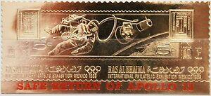 RAS al KHAIMA 1969 A 311 A I EFIMEX 68 GOLD red ovp safe return Apollo 13 Space