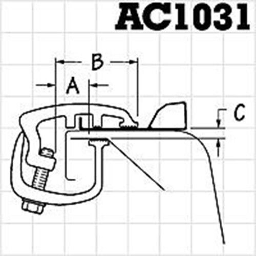 AC1031-4 API 4 Rocker Style Long Reach Ford Truck Cap Mounting Clamps