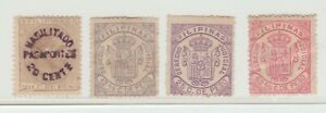 Spain Philippines revenue Stamp 4-28-21 -no gum- as seen - some wear but ok