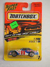 1996 MATCHBOX T BIRD STOCK CAR #7 WIEDER RACING