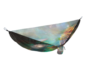 Twisted Root Design Space Galaxy Color Print Hammock Camping Hiking w Stuff Sack