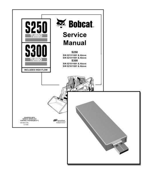 Bobcat S250 S300 Turbo Skid Steer 2006 Edition Repair Service Manual 6901926