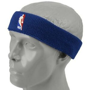NEW! Royal Blue Headband Basketball Logo NBA Gear Head Band Stocking ... 8f6d7e444e8