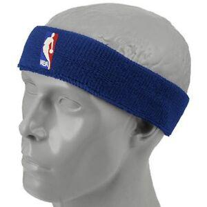 NEW! Royal Blue Headband Basketball Logo NBA Gear Head Band Stocking Stuffer