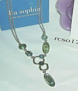 """NWT 38-41/"""" Long Beautiful Lia Sophia /""""WHITEWASHED/"""" Necklace"""