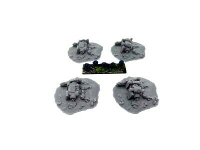 Carcasse Dreadnought X4 Décor Scenery Warhammer Epic Star Wars Wings Terrain 6mm L'Ultima Moda