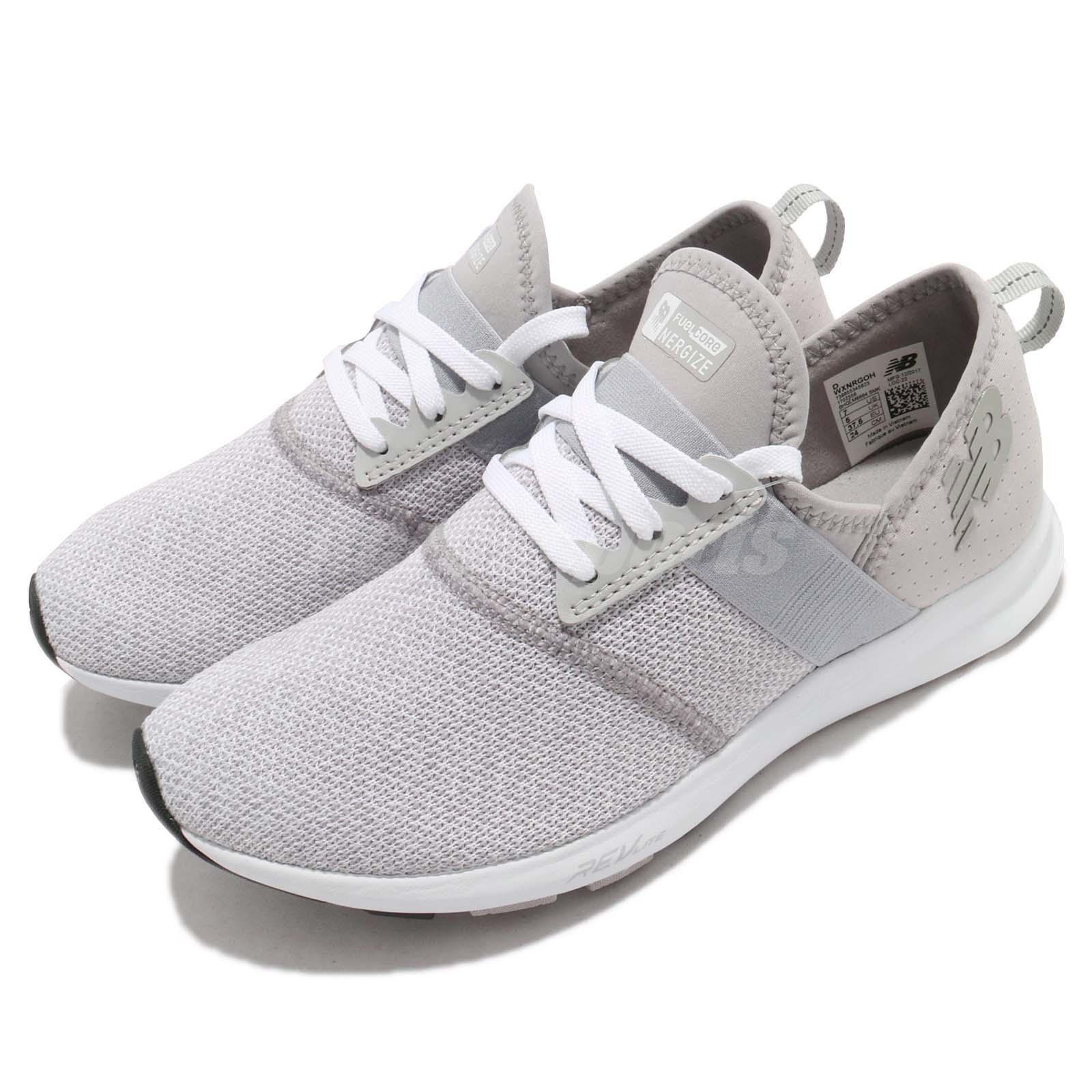 New Balance WXNRGOH D Wide blanc gris femmes Running chaussures Slip-On WXNRGOHD