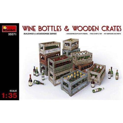 Weinflaschen im Maßstab 1:35 192 Flaschen und 12 Kästen