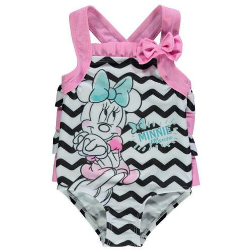 Disney Baby Minnie Mouse Girls Swimsuit Swimming Costume Swimwear Frilly Summer
