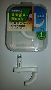 Plasplugs-Hollow-Door-Hooks-Single-&-Double-Hollow- & Plasplugs Hollow Door Hooks Single \u0026 Double Hollow Door Fixings | eBay