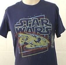 Blue Star Wars Millennium Falcon Han Solo Chewy Medium T Shirt Gift for Him