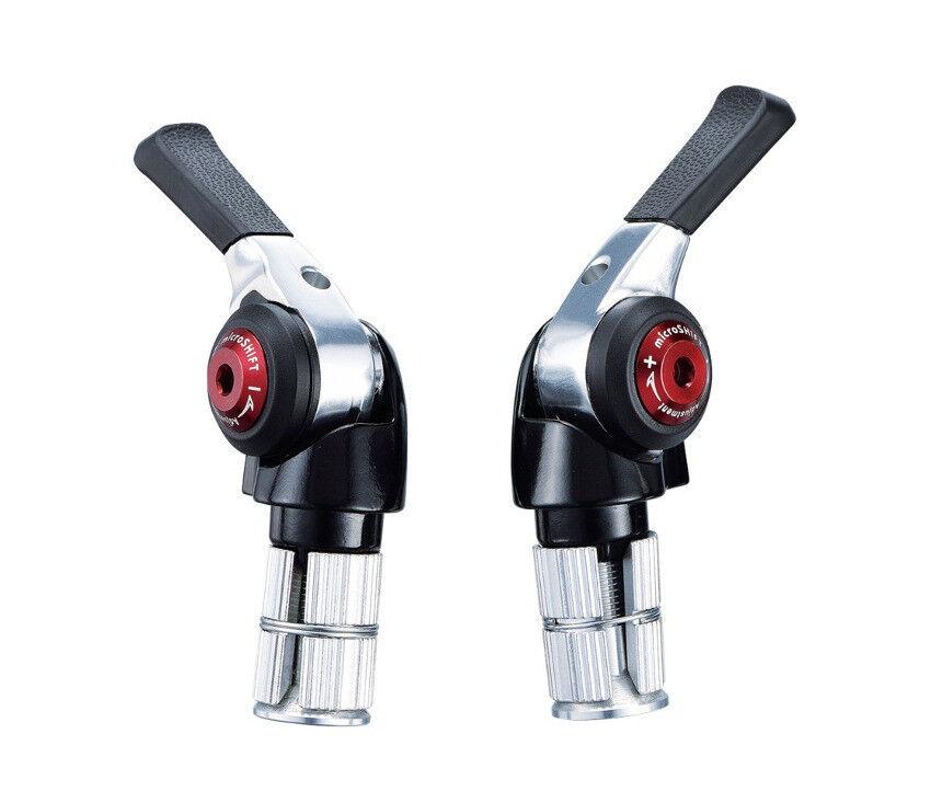 MicroSHIFT BS-T10 2 3 X 10 velocidades Doble & Triple transferibles Bar End palanca de cambios