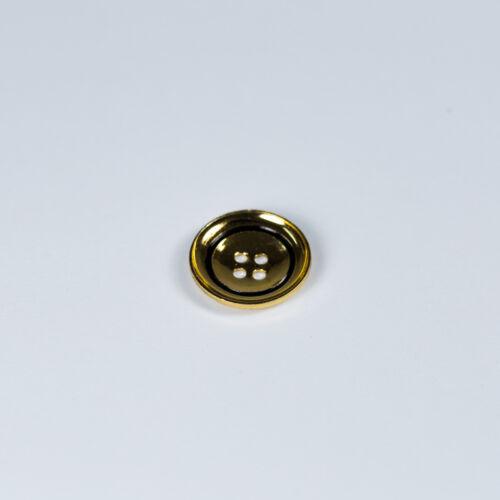 Vintage 4 agujeros Botones Blazer metálico por Mayor