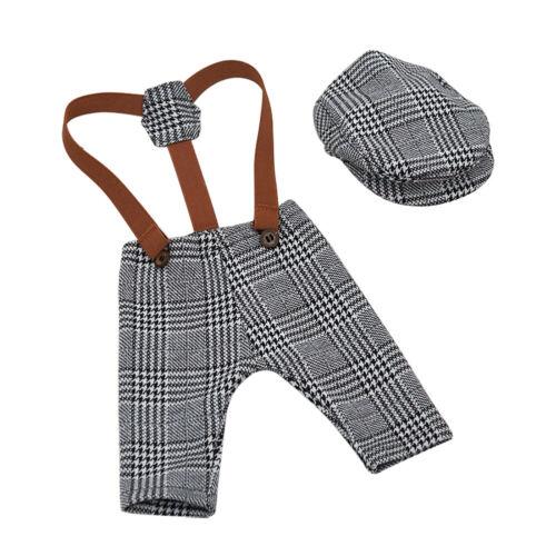 Baby Trägerhose Hut Neugeborenen Fotografie Kostüm  Fotoshooting Spielzeug DE