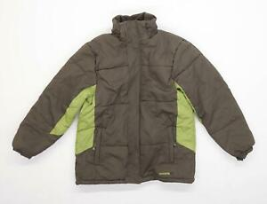 Mountain Life Boys Patchwork Green Waterproof Coat Age 11-12 Years